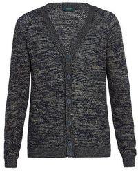 Zanone - V-neck Multi-weave Cardigan - Lyst