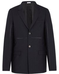 Jil Sander - Exposed-seam Panelled Wool And Mohair-blend Blazer - Lyst