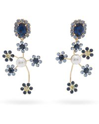 Erdem - Floral Cluster Clip-on Earrings - Lyst