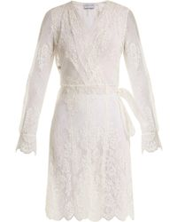 Carine Gilson | Floral-lace Wrap Dress | Lyst