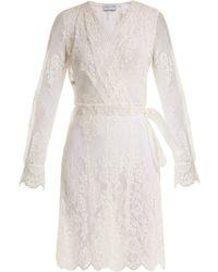 Carine Gilson - Floral-lace Wrap Dress - Lyst