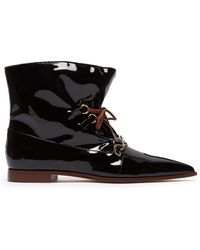 228833f906 On sale JW Anderson - Twisted Plaque Patent Leather Ankle Boots - Lyst