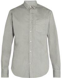 Officine Generale - Lipp Stitch Cotton-piqué Shirt - Lyst
