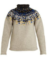 Acne Studios - Sirus Jacquard-yoke Wool Sweater - Lyst