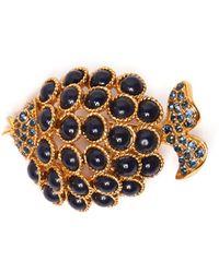 Oscar de la Renta - Bead-embellished Ball And Hoop-drop Earrings - Lyst