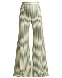 Sonia Rykiel - High-waist Striped Trousers - Lyst