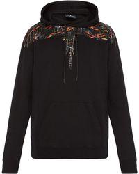 Marcelo Burlon - Sweat-shirt en coton à capuche et imprimé ailes - Lyst
