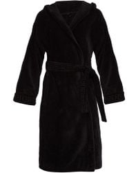 Versace - Medusa Cotton Hooded Robe - Lyst