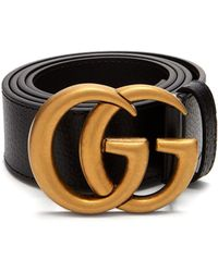 d2a7fcfe8 Lyst - Gucci Gg 4cm Leather Belt in Brown for Men