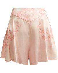 Hillier Bartley - Floral-print Silk Shorts - Lyst