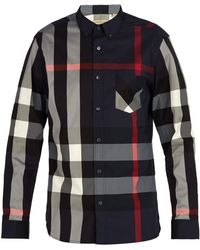 Burberry - House-check Button-down Shirt - Lyst