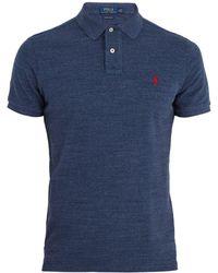 Polo Ralph Lauren | Logo-embroidered Cotton-piqué Polo Shirt | Lyst