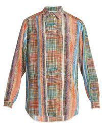 Marco De Vincenzo - Chaos-print Silk-crepe Shirt - Lyst
