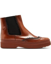 Tod's - Chunky-sole Smooth-leather Chelsea Boots - Lyst
