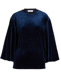 Toga - Flared-sleeves Velvet Top - Lyst
