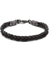 Emanuele Bicocchi - Fishtail Braided Sterling Silver Bracelet - Lyst