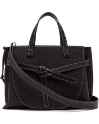 Loewe - Gate Top-handle Leather Bag - Lyst