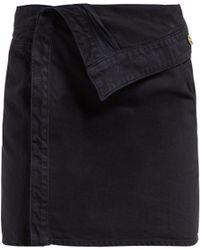 Jacquemus - La Mini Asymmetric Denim Skirt - Lyst