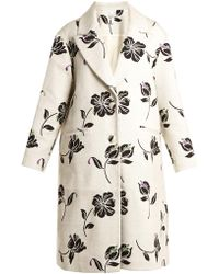 Huishan Zhang - Alison Floral Jacquard Single Breasted Coat - Lyst