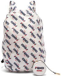 Fendi - Mania Help Leather Bag Charm & Fold Away Backpack - Lyst