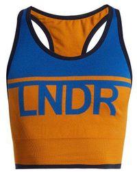 LNDR - - A Team Logo Knit Performance Bra - Womens - Navy Multi - Lyst