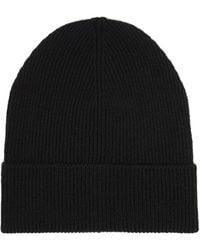 Prada - Ribbed Cashmere Beanie Hat - Lyst