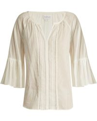 Velvet By Graham & Spencer - Celina Summer Bell-cuff Cotton Top - Lyst