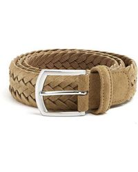 Andersons - Woven Suede Belt - Lyst
