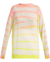 The Elder Statesman Tranquility Tie Dyed Cashmere Sweater