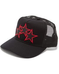 dfc4de9954f Gucci Logo-   Star-print Leather Trucker Hat in Black for Men - Lyst