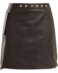 Acne | A-line Wrap Leather Skirt | Lyst