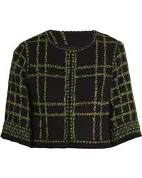 Andrew Gn - Floral-tweed Cropped Jacket - Lyst