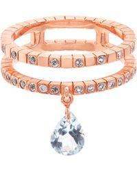 Diane Kordas - Diamond, Topaz & Rose Gold Cosmos Ring - Lyst