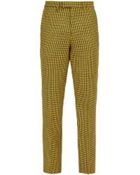 Raf Simons - Slim-leg Houndstooth Wool Trousers - Lyst