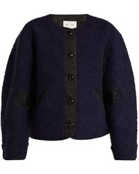 Proenza Schouler - Contrast Panel Fleece Jacket - Lyst
