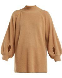 Ryan Roche - Balloon Sleeved Cashmere Sweater - Lyst