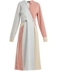 Anna October - Striped Midi Dress - Lyst