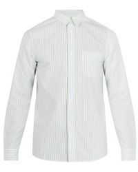 A.P.C. - Oliver Striped Cotton Shirt - Lyst