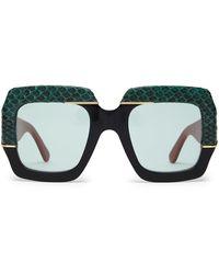 aa7ed897 Lyst - Gucci Women's 55mm Oversized Square Colorblock Sunglasses ...
