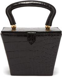 STAUD - Sadie Crocodile Effect Leather Bag - Lyst