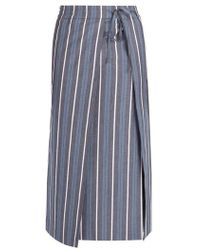CONNOLLY - Striped Cotton-blend Sarong - Lyst