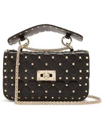 Valentino - Rockstud Small Quilted-leather Shoulder Bag - Lyst