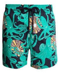Vilebrequin - Moorea Octopussy Et Coquillages-print Swim Shorts - Lyst