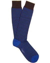Marni | Geometric-jacquard Cotton-blend Knee-high Socks | Lyst