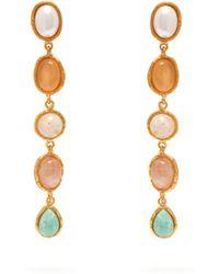 Sylvia Toledano - Multi Stone Drop Earrings - Lyst