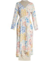 Vetements - Robe à imprimé floral et empiècement contrastant - Lyst