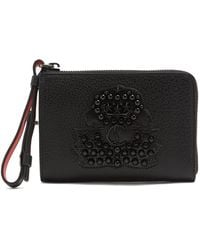 Christian Louboutin - Tinos Crest-embellished Leather Wallet - Lyst