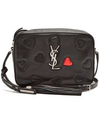 Saint Laurent - Monogram Lou Quilted-hearts Leather Cross-body Bag - Lyst