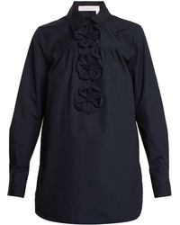 See By Chloé - Origami Cotton-poplin Shirt - Lyst