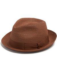 Borsalino - Panama Ribbon Embellished Hat - Lyst